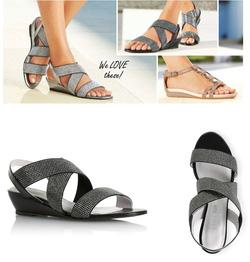 Ảnh số 9: X46: Sole Survivor - Sparkle Elastic Strap Low Wedge  Em sandal này đã lên web rồi ạ, chỉ còn đúng 1 đôi cho bạn nào vợt nhanh tay - Giá: 530.000