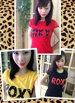 Ảnh số 17: Áo Roxy ren, size S, còn màu đen và màu đỏ - 100k - Giá: 100.000