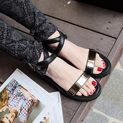 Ảnh số 59: Giày sandals quai ngang kim loại-sz37,38-855k - Giá: 855.000