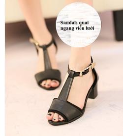 Ảnh số 60: Giày sandals quai ngang viền lưới-sz35-39-850k - Giá: 850.000