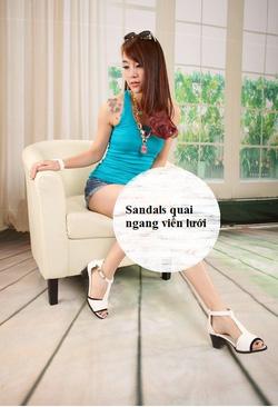 Ảnh số 61: Giày sandals quai ngang viền lưới-sz35-39-850k - Giá: 850.000