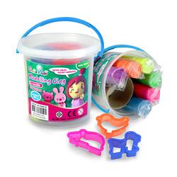 Ảnh số 16: Đất sét nặn SmileKids 6 màu SK-300NE/M  6 màu sắc 3 hình có sẵn Xuất xứ Thái lan, 3 tuổi + Giá bán: 58.500 VNĐ - Giá: 59.000