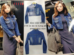 Ảnh số 50: Jacket jeans túi hộp-màu đậm-nhạt - Giá: 220.000
