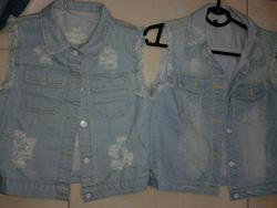 Ảnh số 61: Gile jeans rách chà sáng - Giá: 170.000