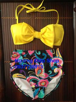 Ảnh số 89: Bikini cạp cao vintage - Giá: 350.000