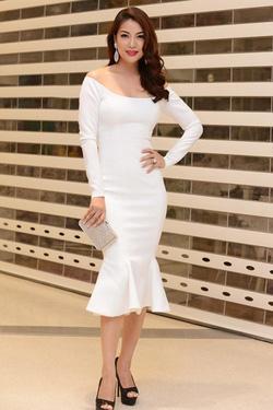 Ảnh số 79: váy trắng đuôi cá - Giá: 450.000