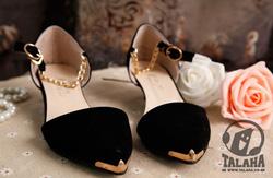 Ảnh số 15: Giày Búp bê nhung xích đen – B043 - Giá: 260.000