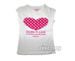 Ảnh số 44: Áo Ducky in love- trắng - Giá: 65.000