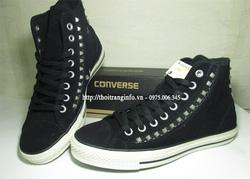 Ảnh số 30: Converse Da Lộn Đen đính kim loại - Giá: 600.000