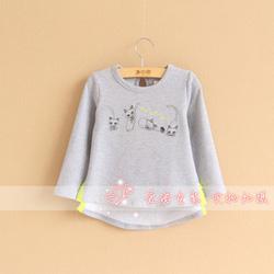 Ảnh số 6: 4. Áo bé gái 2-6 tuổi (cotton chun co dãn, dày dặn, mềm), có 2 màu, Giá : 185k - Giá: 185.000