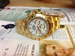 Ảnh số 32: Đồng hồ Rolex dây vàng, mặt trắng - Giá: 1.650.000