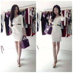 Ảnh số 68: Váy cổ tim tay lỡ 280k! Váy thiết kế dáng ôm, 2 túi bên hông! Đỏ, trắng kem! - Giá: 280.000