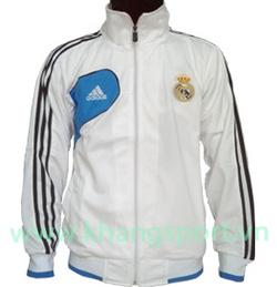 Ảnh số 19: Áo khoác nam thể thao Real Madrid trắng kẻ đen - Giá: 190.000