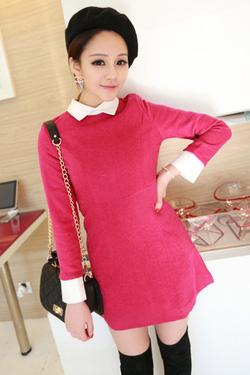 Ảnh số 2: váy hồng sen dáng xuông - Giá: 280.000