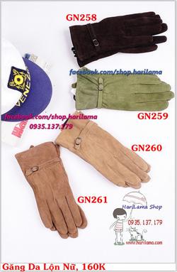 Ảnh số 25: Găng Tay Nữ, Găng Tay Len Nữ, Găng Tay Ống, Găng Tay Da, Da Lộn - Giá: 160.000