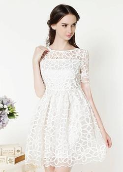 Ảnh số 13: Váy ren hoa nổi - Giá: 550.000