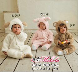 Ảnh số 38: BD515 Body lông cừu hình thỏ và gấu 3 màu ấm áp ngộ nghĩnh cho bé 6-13 cân - Giá: 280.000