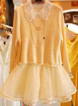 Ảnh số 54: Váy công chúa / Size: S, M, L / Màu: Vàng, Đỏ, Cát cháy / Xuất xứ Made in Korea - Giá: 350.000