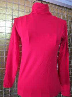 Ảnh số 24: Áo thun dài tay cao cổ, chất dày dặn, có các màu đen, trắng, đỏ, hồng phấn, tím, đỏ, cam, xanh tím than, xanh cooban, xám - 80k - Giá: 80.000