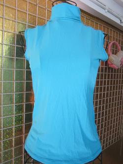 Ảnh số 41: Áo ba lỗ cao cổ, chất thun lanh, có màu xanh da trời, cam, xanh coban, đen, tím than - 60k - Giá: 60.000