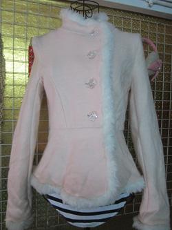 Ảnh số 77: Áo khoác dạ hai lớp, viền bông, cúc hình hoa hồng - 230k - Giá: 230.000