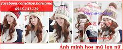 Ảnh số 36: Mũ Nữ, Mũ Len Nữ, Mũ Nữ Style Hàn, Mũ Nữ kiểu Hàn Quốc, Mũ Nữ ở Hà Nội - Giá: 123.456.789
