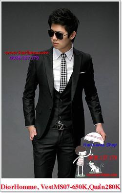 Ảnh số 7: Áo Vest Nam, Áo Vest Dior - NYQ 07, Áo Vest Hàn, Áo Vest Cưới - Giá: 650.000