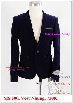 Ảnh số 77: Áo Vest Nam, Áo Vest Nam Style Hàn, Vest Cưới, Vest Nhung Cool MS500, 750K - Giá: 750.000