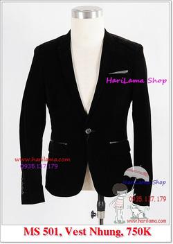 Ảnh số 78: Áo Vest Nam, Áo Vest Nam Style Hàn, Vest Cưới, Vest Nhung Cool  MS501, 750K - Giá: 750.000