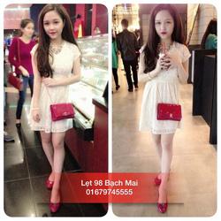 Ảnh số 45: Váy ren trắng xoè - Giá: 290.000