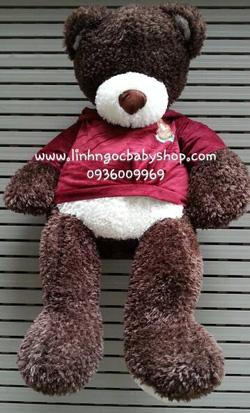 Ảnh số 38: Gấu nâu mặc áo - Giá: 650.000