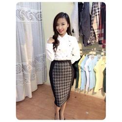 Ảnh số 11: Chân váy ôm họa tiết VNXK (Size M) - Giá: 200.000