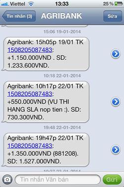Ảnh số 23: SMS chuyển tiền của khách - Giá: 1.111.111