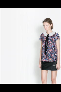 Ảnh số 100: Sơ mi hoa nhí cổ sen Zara TQXK - Giá: 260.000