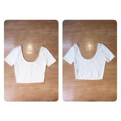 Ảnh số 1: Croptop ren lưng F21 VNXK( Size S_M, đen, hồng trắng, xanh bạc hà) - Giá: 160.000