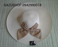 Ảnh số 58: mũ nơ bốn cánh trắng - Giá: 220.000