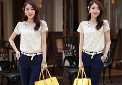 Ảnh số 82: SM927: Cream Ivory/ S, M - Áo sơ mi nữ Hàn Quốc ren thân trước - Giá: 1.630.000