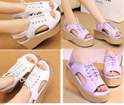 Ảnh số 51: Giày sandals bánh mì cột d&acircy- 240k - Giá: 240.000
