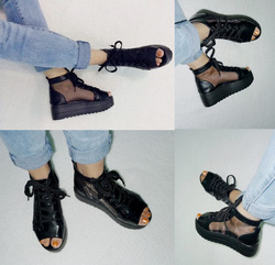 Ảnh số 80: Giày bata bánh mì phối lưới hở mũi- 280.000vnd - Giá: 280.000
