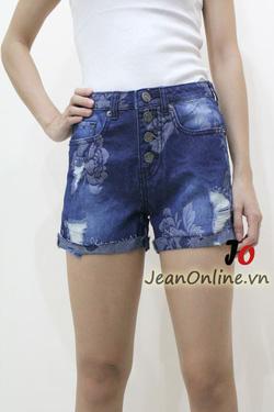 Ảnh số 5: Short jean nữ rách - M6055. Size 1, 3, 5, 7 - Giá: 195.000