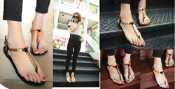 Ảnh số 88: Giày sandals bệt quai kẹp kim loại - 200.000VNĐ - Giá: 200.000