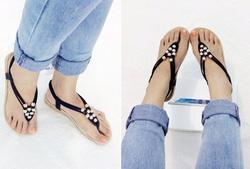 Ảnh số 25: Gi&agravey sandals bệt quai kẹp hạt ch&acircu  - 190k - Giá: 190.000