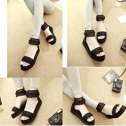 Ảnh số 24: Giày sandals bánh mì quai ngang đinh nhọn- 270k - Giá: 270.000