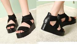 Ảnh số 34: Giày sandals bánh mì quai vải - 240.000VND - Giá: 240.000