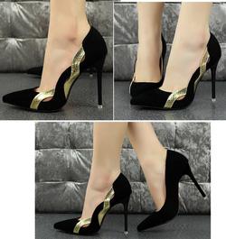 Ảnh số 7: Giày cao gót bít mũi viền vàng - 380.000vnd Giảm còn 320k - Giá: 320.000