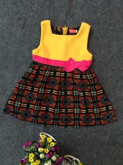 Ảnh số 92: Váy dạ kẻ nơ eo - Giá: 10.000
