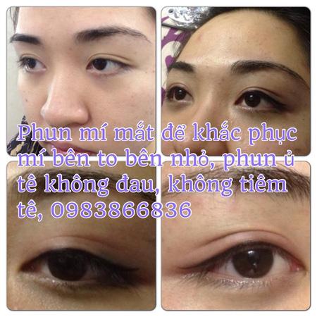 Phun thêu lông mày dáng ngang Hàn quốc, phun eye liner không đau, bắn màu chống thâm môi , nhũ hoa , phun môi pha lê , Ảnh số 31105532