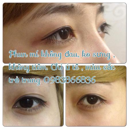 Phun thêu lông mày dáng ngang Hàn quốc, phun eye liner không đau, bắn màu chống thâm môi , nhũ hoa , phun môi pha lê , Ảnh số 31105535