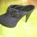Guốc Dạng Boot Jean Hiệu Guess, Size 8,5, Hàng Đem Từ Mỹ Về, Cao 14cm
