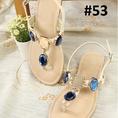 Sandal xỏ ngón kết hạt cực xinh cho bạn gái thêm xinh tươi, khuyến mại lớn nhân dịp sinh nhất lần thứ nhất của shop